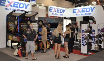 IT WASN'T ALL BUSINESS AT EXEDY'S AUSTRALIAN AUTO AFTERMARKET EXPO STAND!