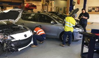 WRECKED CARS TO DRIVE TAFE NSW AUTO STUDENTS FORWARD