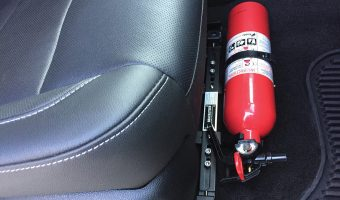 THE WORLD'S NUMBER ONE SELLING CAR FIRE EXTINGUISHER BRACKET