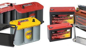 DRY CELL BATTERIES AND MOUNTING TRAYS